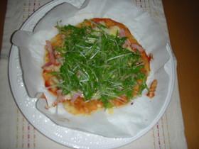 たっぷり水菜のピザ