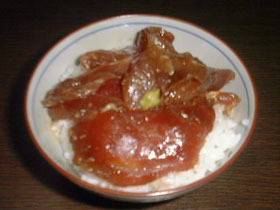 お刺身丼とおさしみ茶漬け