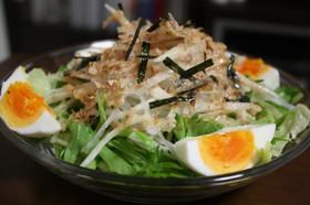 水菜と大根サラダ