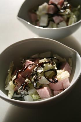 おさかなのソーセージと白菜の和風サラダ