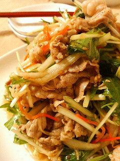 さっぱり★豚しゃぶと水菜の中華和え