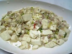 ★塩ネギ生姜の白麻婆豆腐★