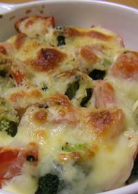 トマトとブロッコリーのチーズ焼き