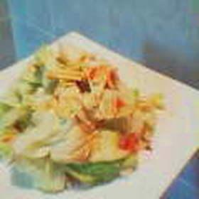 蒸しキャベツのサラダ
