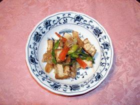 生揚げと豚肉の味噌炒め
