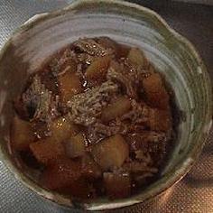 大根とひき肉の煮物