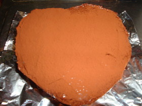 100均のハート型でチョコレートケーキ★