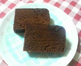 レンジでチョコケーキ
