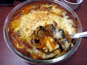 濃厚ヘルシー茄子豆腐ミートソースグラタン