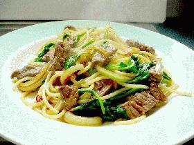 牛肉のスパゲティ