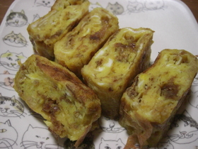 カツオバター味☆卵焼き