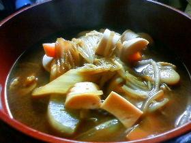 おさかなソーセージの赤味噌鍋
