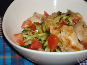 トマト☆鶏のさっぱり!サラダ