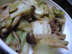 簡単☆海苔佃煮で白菜炒めですよ