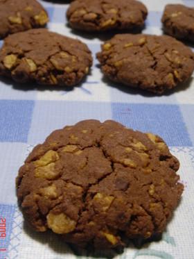 コーンフレークでサクサク♪チョコクッキー