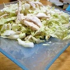 シャッキシャキ!!白菜と鶏ムネ肉でサラダ