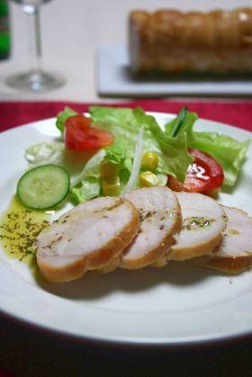 鶏ハムの燻製