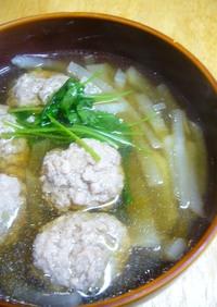 肉団子とたっぷり大根のスープ