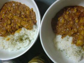 大豆と手羽元カレー