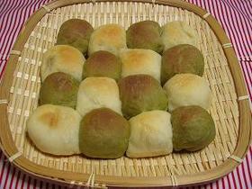 2色のさつま芋のちぎりパン