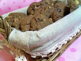チョコとナッツのドロップクッキー