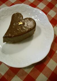 チョコとナッツ生地のチョコレートケーキ
