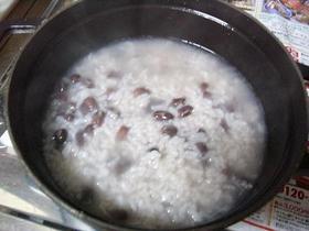 ストウブで小豆がゆ(覚え書き)