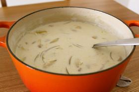 あったか♪鶏肉とたまねぎの牛乳スープ