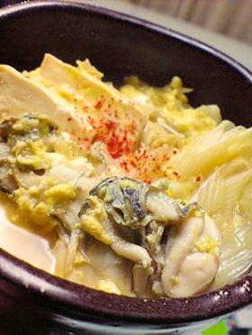 たっぷり野菜と牡蠣の柳川風♪
