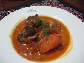 鹿肉赤ワイントマト煮込み