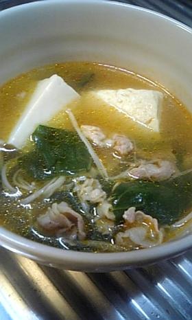 あったかピリ辛スープ