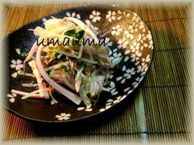 ぱぱっと粋な一品☆魚肉ソともやしナムル