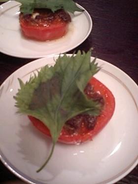 トマトの味噌焼き