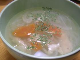 ほっこりあったか★鶏とトマトのスープ
