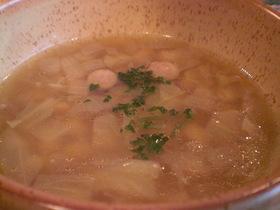 大豆のコンソメスープ