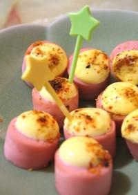おさかなのソーセージで☆ピリマヨ焼き☆