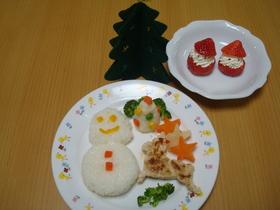離乳食後期☆クリスマスプレート②-2