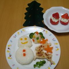 離乳食後期☆クリスマスプレート②-4