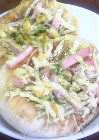レンジで発酵☆お好み焼きパン