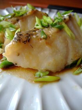 話題・白身魚(鱈)のポン酢ソテー