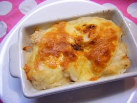 長いものトローリ豆腐クリームグラタン