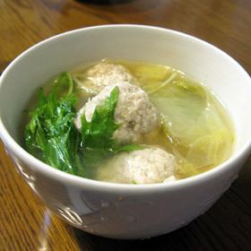 味噌つくねの白菜スープ