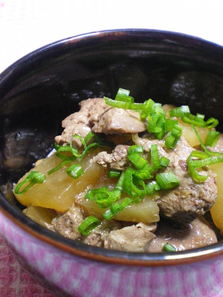 ◆鶏レバーと大根の煮物◆