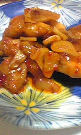 ピリ辛☆鶏肉炒め