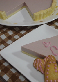 pinkの赤ワインレアチーズタルト☆