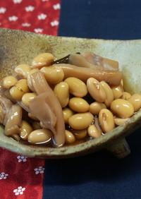 節分の日に  大豆とイカの煮物