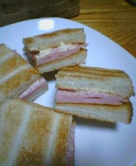 ハム(だけ)サンド♪