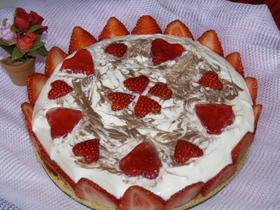 バレンタインに~マーブルレアチーズケーキ