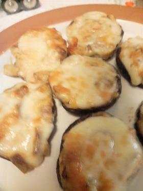 しいたけの味噌マヨチーズ焼き
