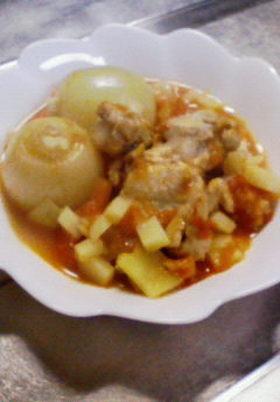 ★玉ねぎ丸ごと鶏トマトスープ★